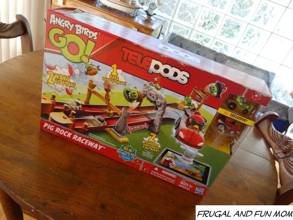 Angry Birds Go Toys : Angry birds go telepods pig rock raceway review and