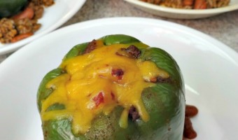 Bell Pepper Chili Bowls! #MCSkilletSauce An Easy Dinner With McCormick Skillet Sauce!