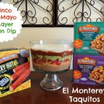 Cinco de Mayo Party with El Monterey Taquitos {Giveaway}! Plus a 6 Layer Bean Dip Recipe!