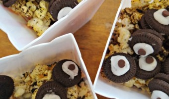Cookies and Cream Popcorn With Chocolate Wheels! #AlvinInsiders #FamilyRoadChip