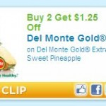 HOT Produce Coupon! $1.25 off Del Monte Gold Extra Sweet Pineapple!