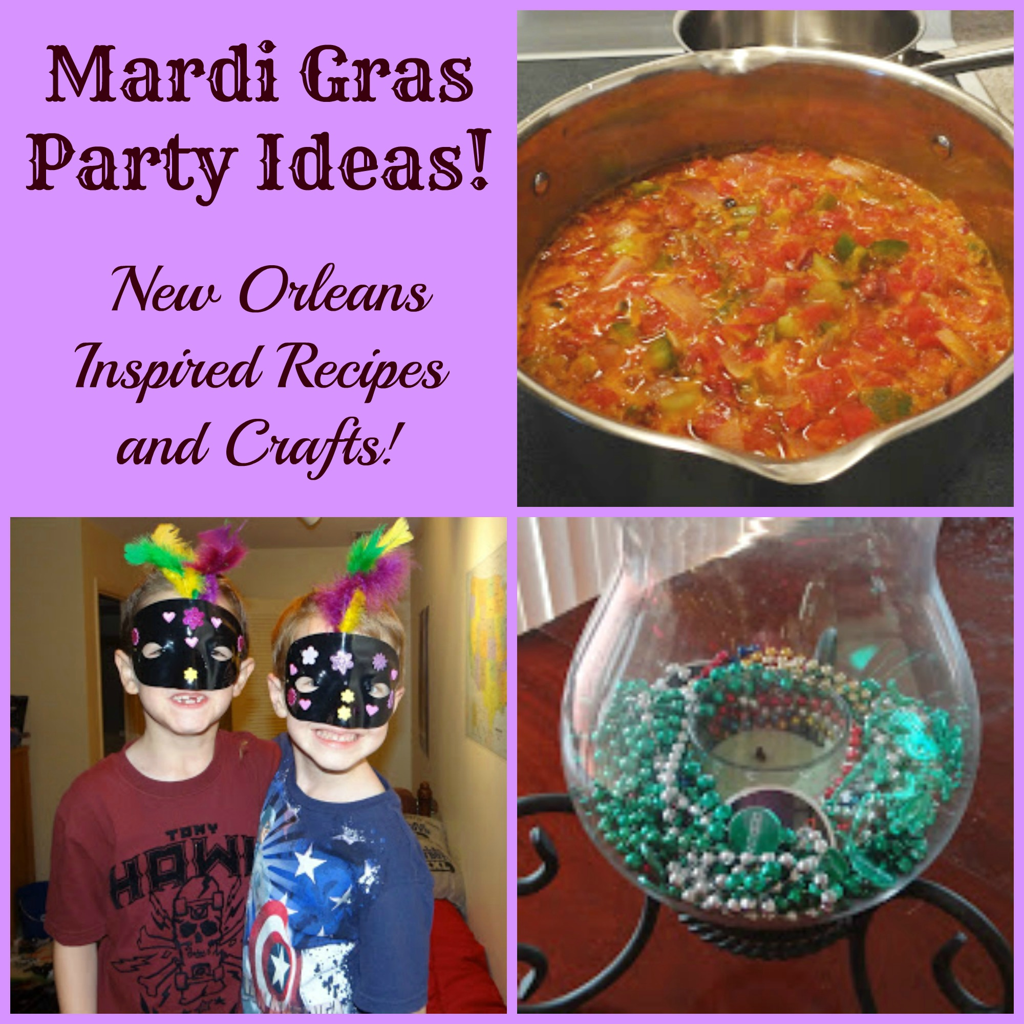 Mardi gras party ideas we made new orleans inspired recipes and mardi gras party ideas we made new orleans inspired recipes and crafts fun learning life forumfinder Image collections