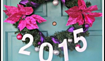 New Year's Wreath! Easy DIY With Wooden Numbers!
