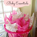 Baby Shower Gift Idea With Essentials In A Laundry Basket!