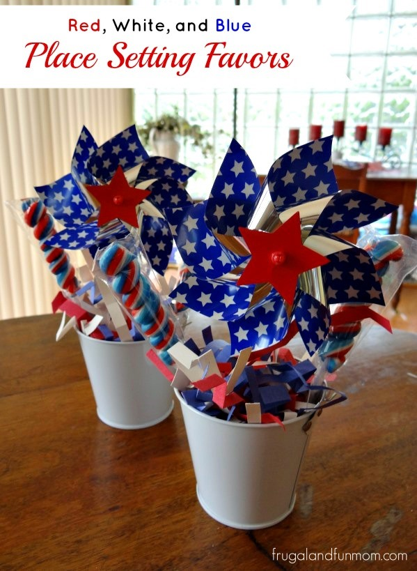 Red white and blue diy patriotic decorating made - Red white blue decorations ...