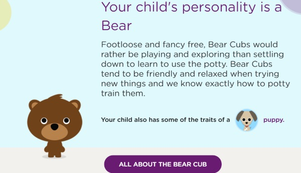 Bear Cub Personality Pull-Ups Potty Training