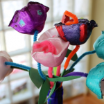 Egg Carton Flowers Craft!  An Easy Spring Activity for Kids!