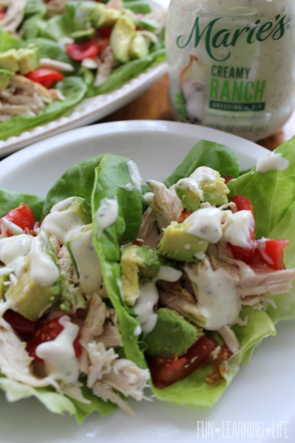 Chicken Lettuce Wraps with Maries Dressing