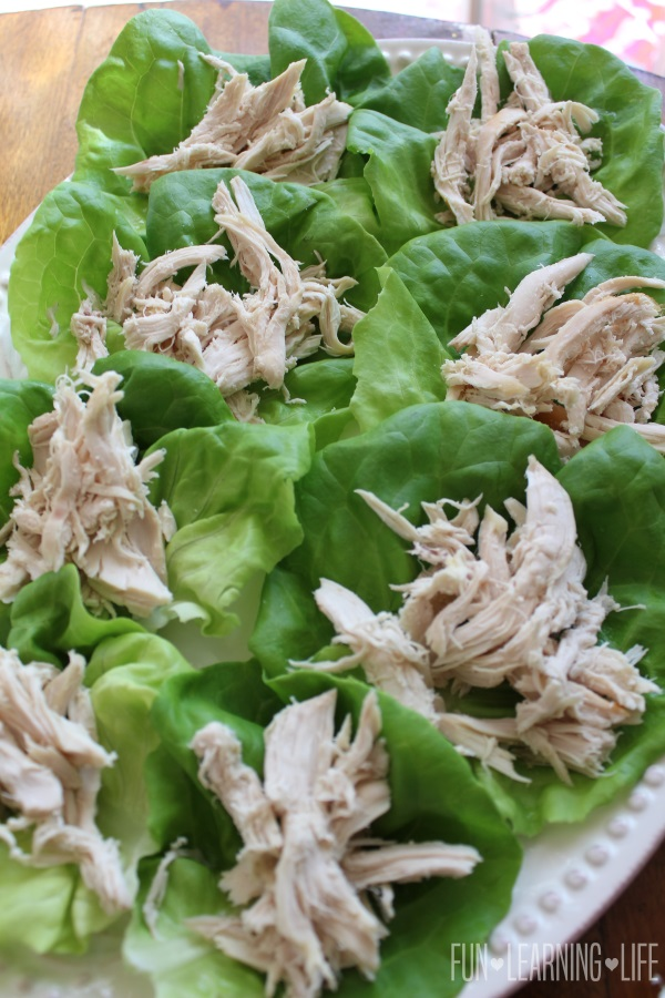 Chicken on Lettuce Wraps