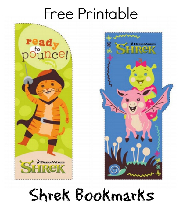 Free Printable Shrek Bookmarks