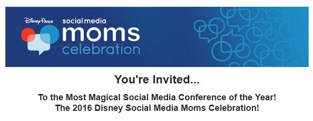 Invite for Disney Social Media Moms