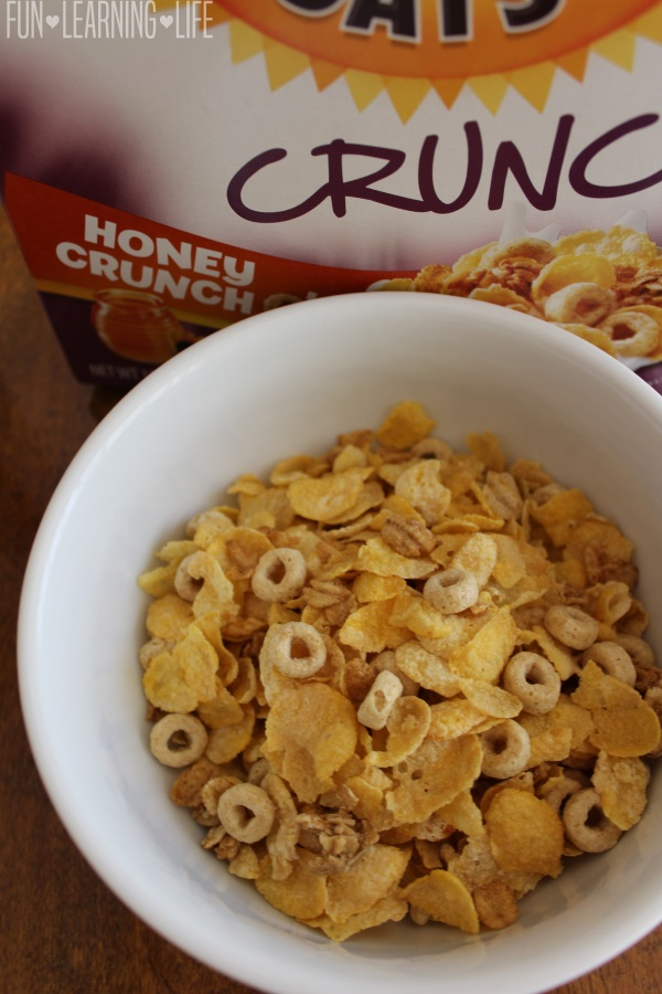 NEW Honey Bunches of Oats Crunch O's Honey Flavor in a bowl