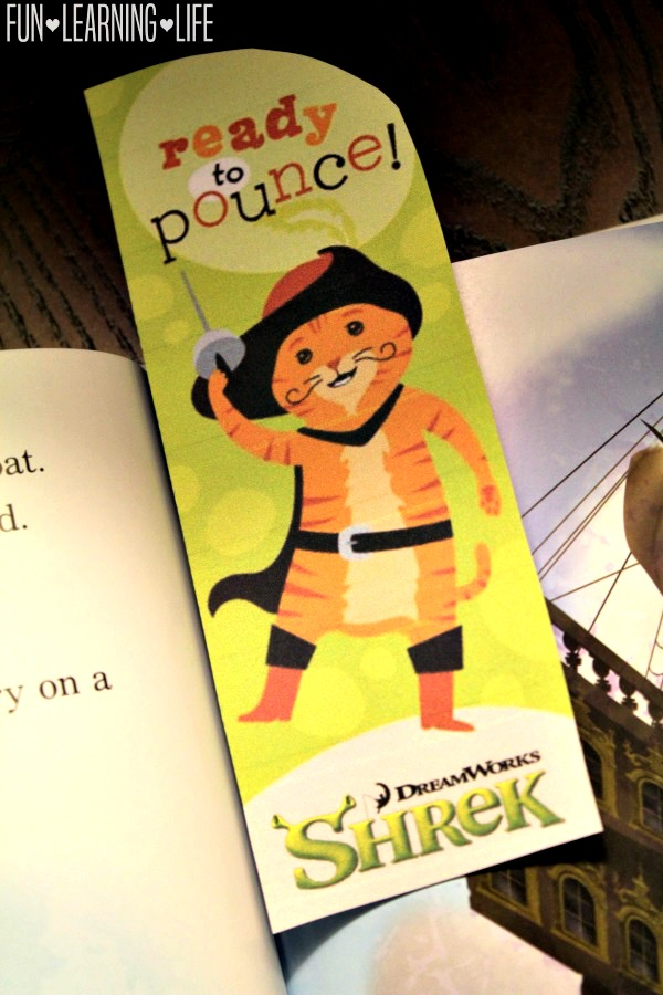 Puss in Boots Bookmark from Shrek