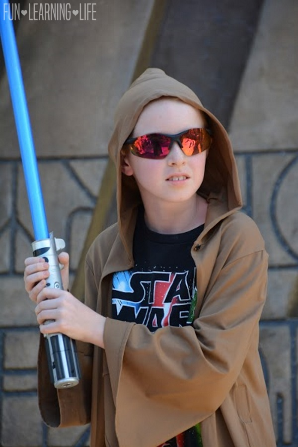 Boy at Jedi Training Trials of the Temple at Hollywood Studios