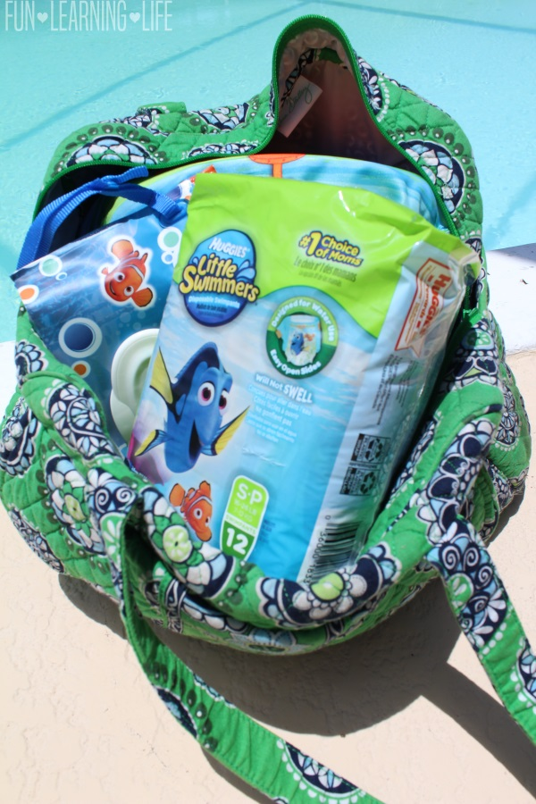 Diaper Bag ready for water activities