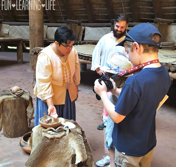 Learning about Apalachee Indians and Spanish Settlers at Mission San Luis Tallahassee Florida
