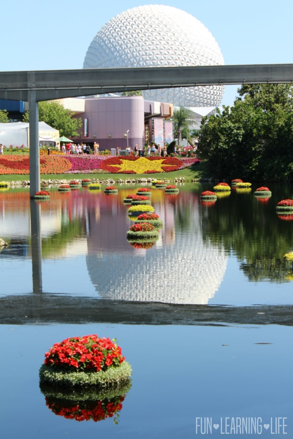 Space Ship Earth at Epcot International Flower and Garden Festival
