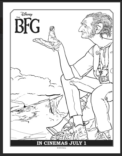 The BFG Coloring Sheets and Activity Pages