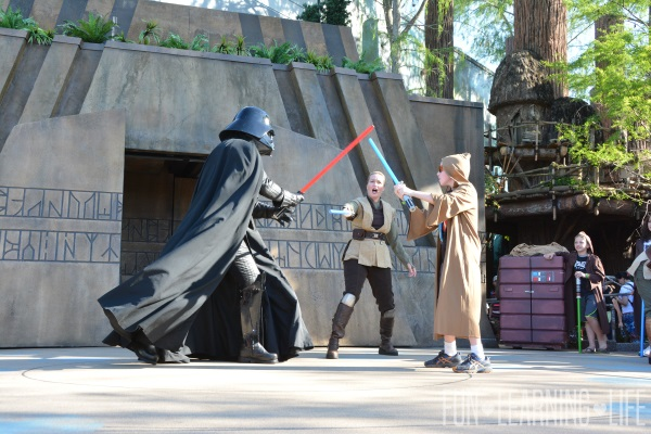 Trials of the Temple at Disney's Hollywood Studios facing Darth Vader