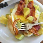 Bacon Egg and Avocado Open-Faced Breakfast Sandwich!