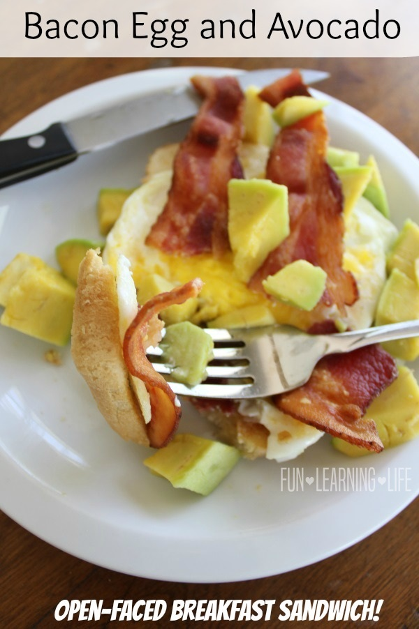 week, I created a Bacon Egg and Avocado Open-Faced Breakfast Sandwich ...
