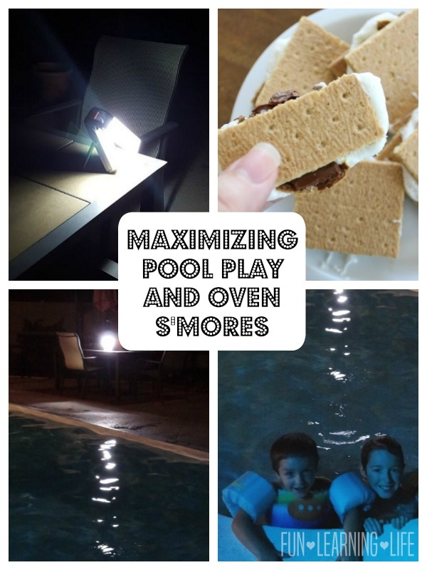 Maximizing Pool Play With Extra Lighting and an Oven S'mores Recipe!