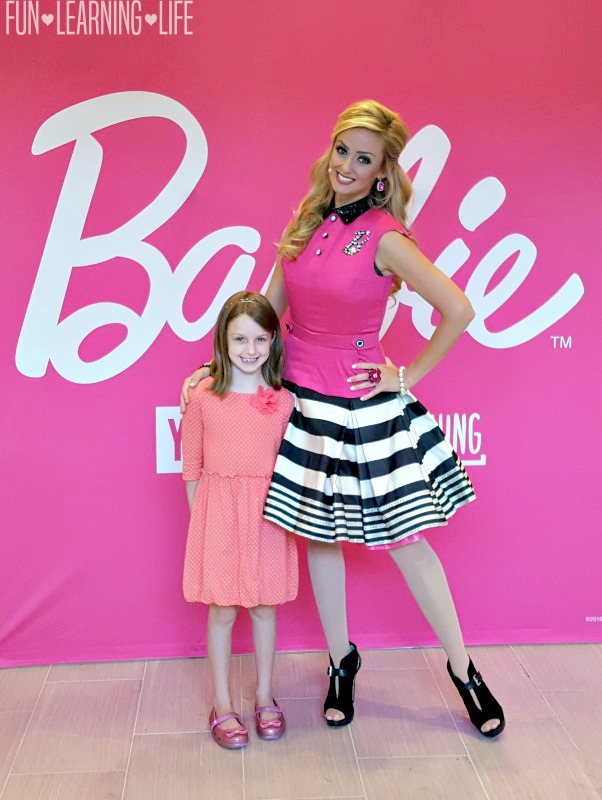 Meeting Barbie in person at the Brandon Town Center Westfield Event