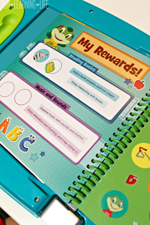 Sticker Rewards in the LeapStart learning system