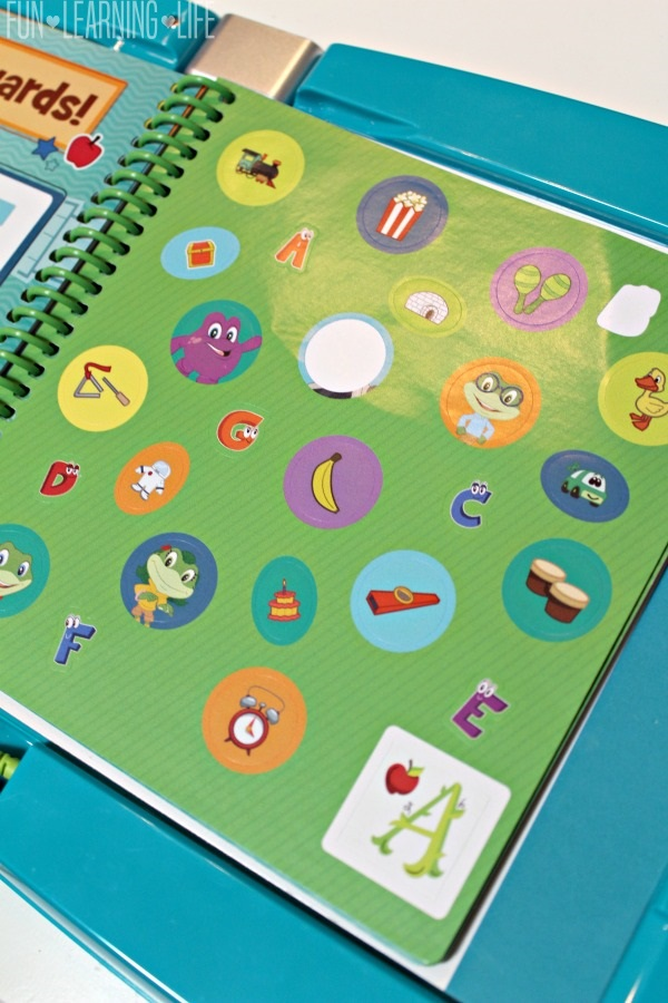 Stickers in the LeapFrog LeapStart learning system