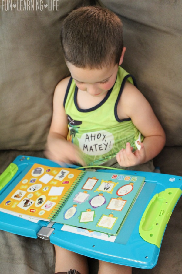 Using stickers in the LeapFrog LeapStart learning system