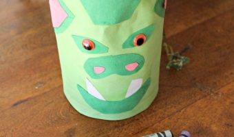 Dragon Crayon Holder Craft and Free Pete's Dragon Activity and Coloring Pages!