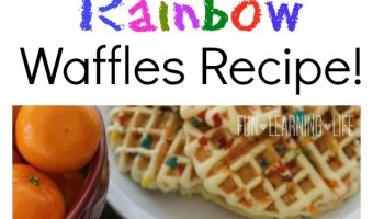 Rainbow Waffles Recipe! An Easy Breakfast For Kids!
