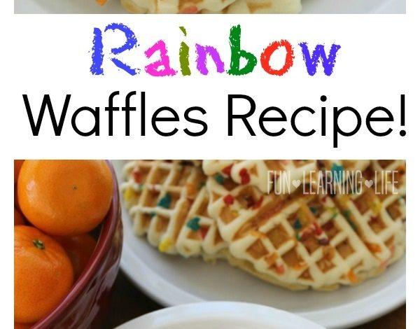 Rainbow Waffles Recipe! An Easy Breakfast For Kids!