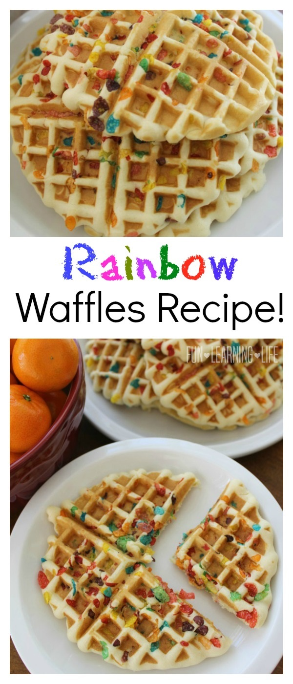 Rainbow Waffles Recipe