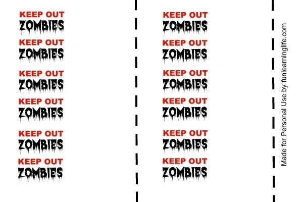 Keep Out Zombies Halloween Printable