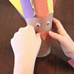 Vegetable Can Turkey Craft With Lollipop Feathers for Thanksgiving!
