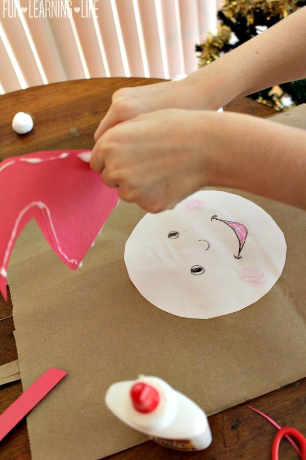 gluing-santa-calendar-craft