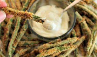 Breaded Green Beans with Caesar Dip! Plus Take The Power Your Lunchbox Pledge!