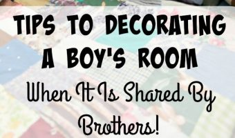 Tips To Decorating a Boy's Room, When It Is Shared By Brothers! (Plus Giveaway for Brentwood Home!)