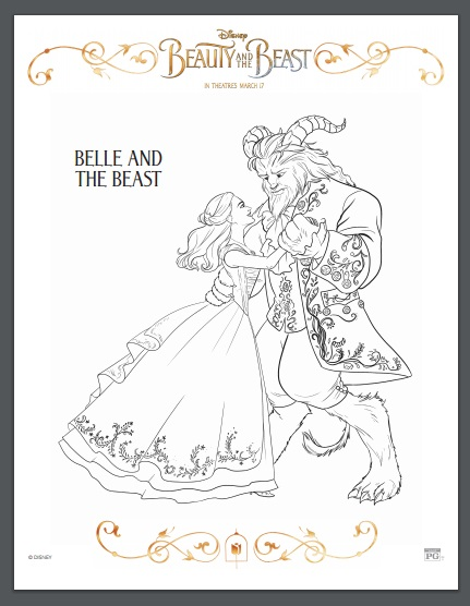 Be Sure To Print These 10 Beauty And The Beast Coloring Sheets