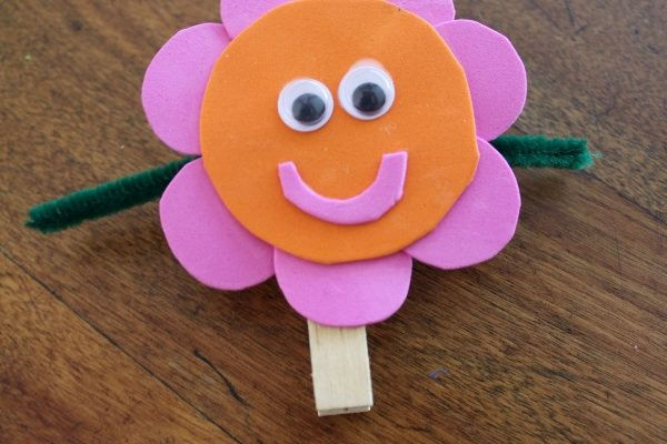 How To Make A Clothespin Foam Flower!