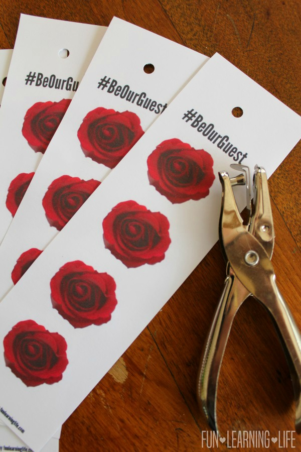 Enchanted Rose Printable Bookmark For Beauty And The Beast