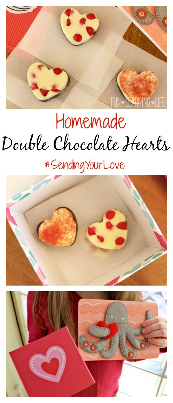 Homemade Double Chocolate Hearts!