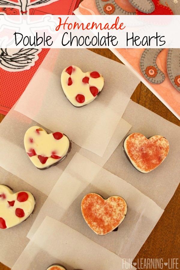 Homemade Double Chocolate Hearts!