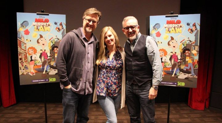 "Meeting Dan Povenmire and Jeff ""Swampy"" Marsh The Creators of MILO MURPHY'S LAW!"