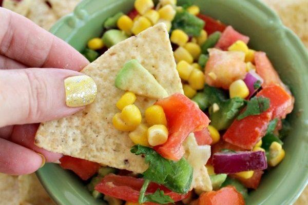 Corn, Tomato, and Avocado Salsa Recipe!