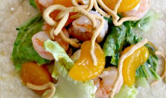 Shrimp and Mandarin Orange Wrap With Citrus Vinaigrette!