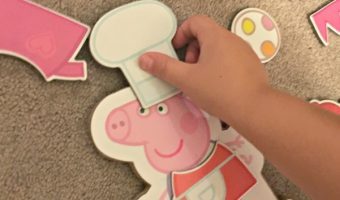 Peppa Pig Magnetic Wood Dress Up Box Set and Peppa Pig Jumbo Mega Play Mat Review!
