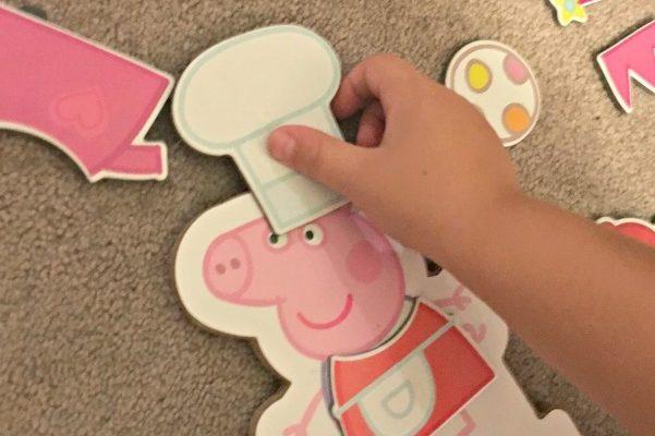 Peppa Pig Magnetic Wood Dress Up Box Set and Peppa Pig Jumbo Mega Play Mat Review!