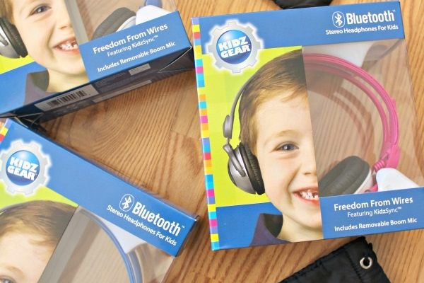 Kidz Gear Bluetooth Stereo Headphones for Kids Review! {Giveaway}